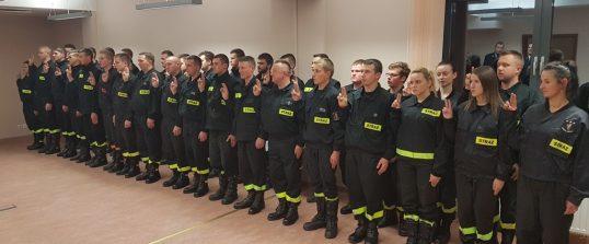 Ukończenie kursu i ślubowanie nowych strażaków JOT w OSP Mystków