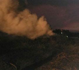 Kunów – 22.04.2019 – Pożar trawy Kunów