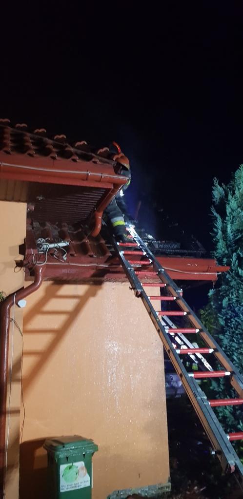 OSP Mystków Pożar budynku (1)