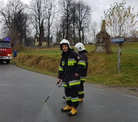 Mystków – 15.11.2018 – Plama oleju