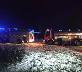 Królowa Górna – 30.11.2018 – Pożar budynku mieszkalnego