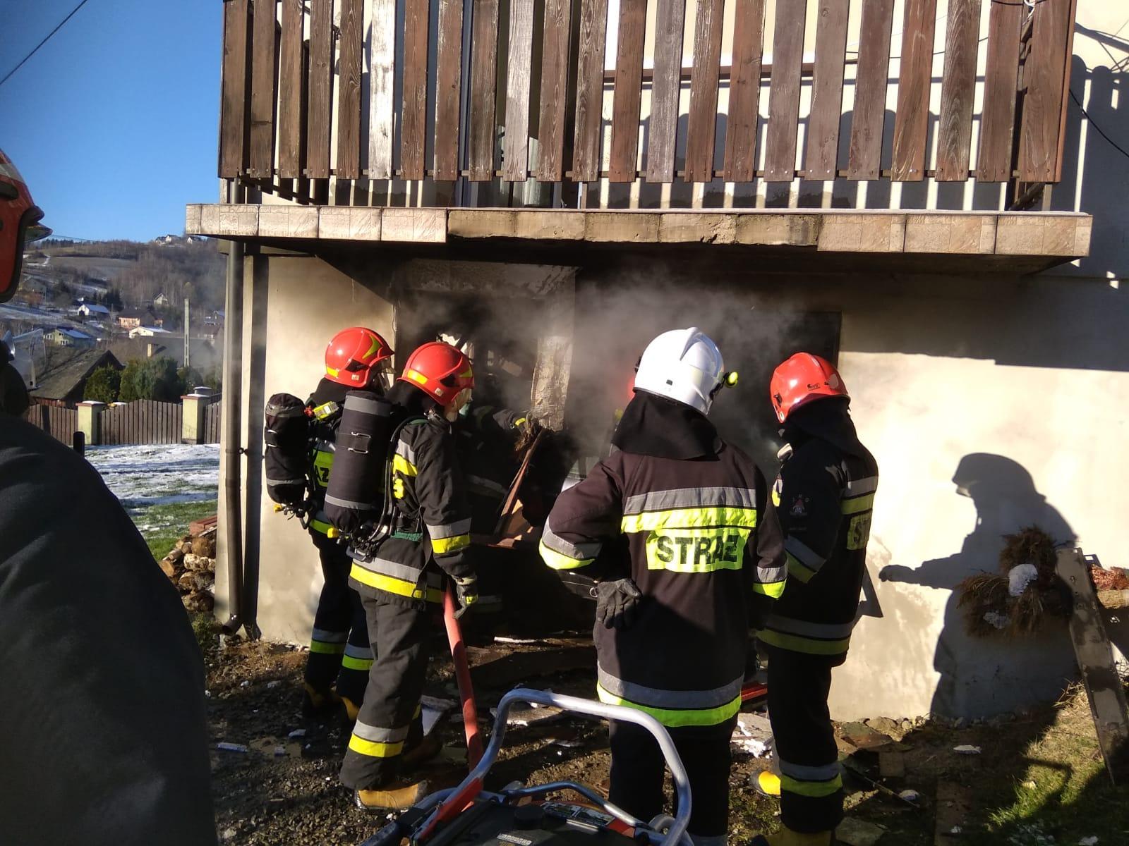 OSP Mystków Pożar Paszyn (5)