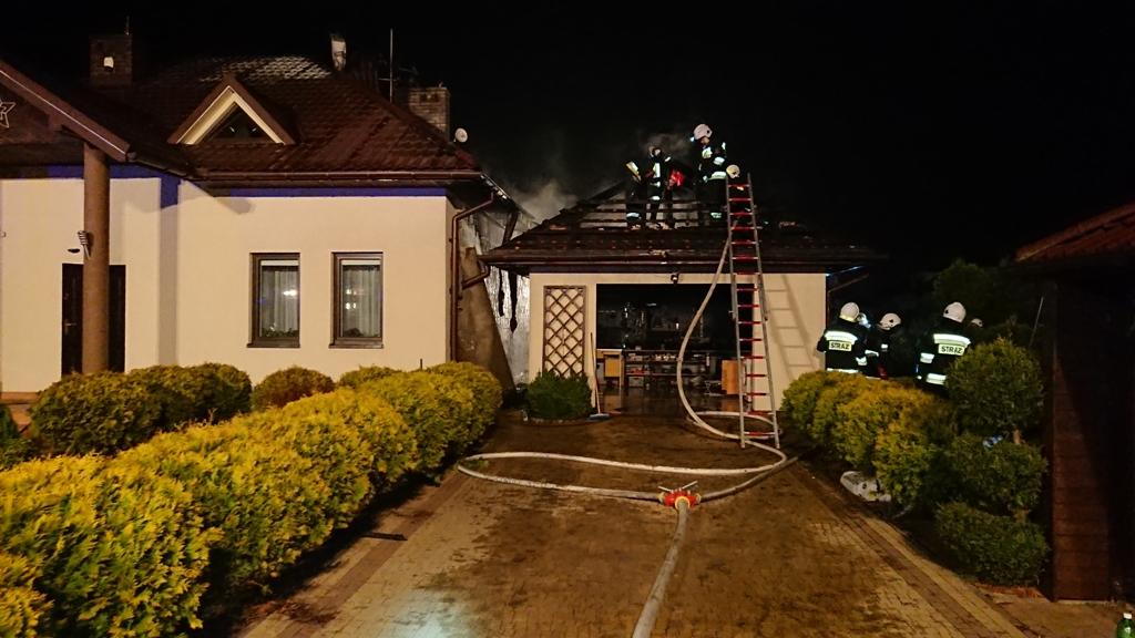 Nowy Sącz, ul. Dunajcowa, pożar budynku mieszkalnego 30 03 2019 OSP Mystków (1)