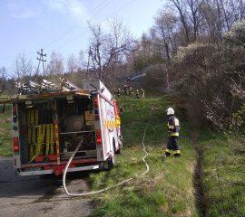 Kamionka Wielka – 24.04.2019 – Pożar trawy oraz lasu